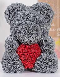 Подарочный Медведь 3D из роз мишка Teddy Bear 40 см мишка из роз