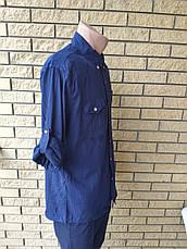 Рубашка мужская коттоновая  брендовая высокого качества ELZARA, Турция, фото 3
