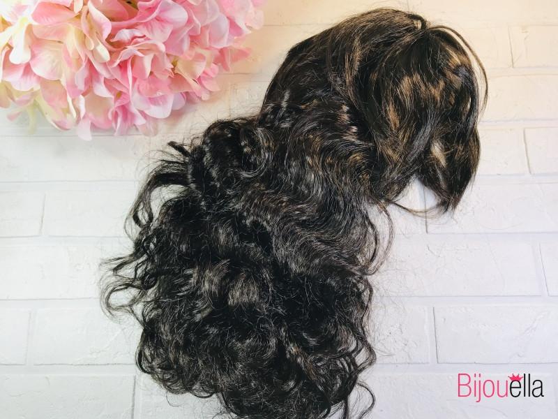 Волнистый темно-коричневый парик 53 см,120 гр на карнавальные мероприятие