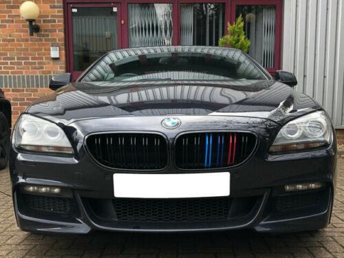Решетки радиатора ноздри BMW 6 F06 F12 F13 стиль M6 (черный глянц + M колор)