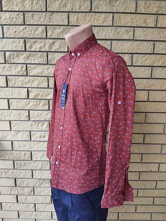 Рубашка мужская коттоновая брендовая высокого качества REWINSS, Турция, фото 2