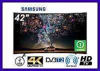 "Телевизор Samsung 42"" 4K Ultra HD LED T2 Изогутый"