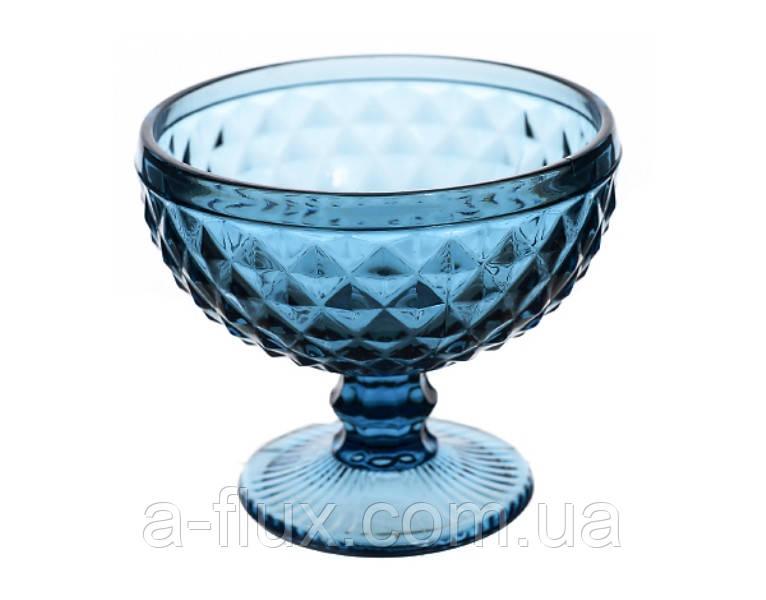 Набор креманок 200 мл синее стекло 6 шт 6410