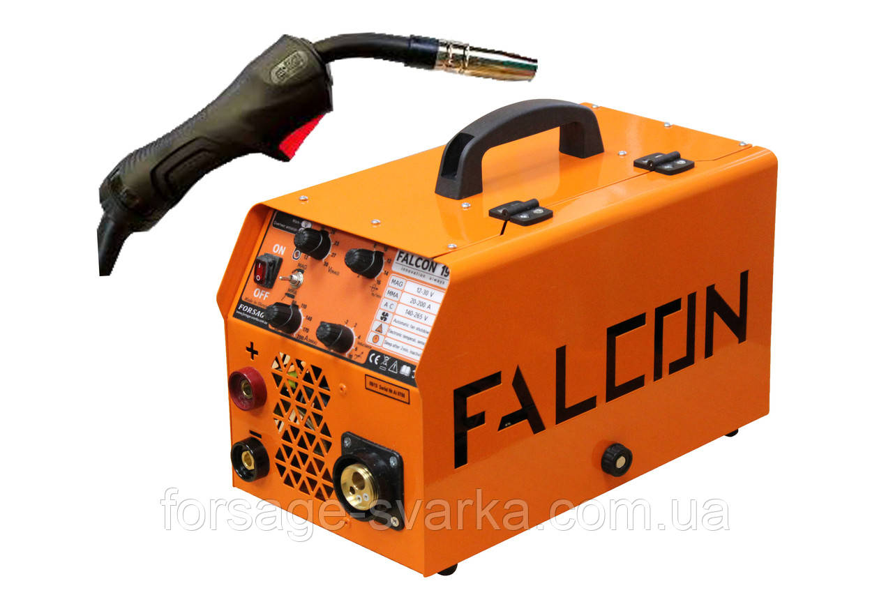 Полуавтомат инверторный FORSAGE FALCON 190 EURO MIG/MMA + Горелка ABICOR BINZEL B-15 (3 м)