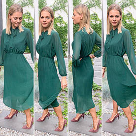 Платье женское, шифон юбка плиссе