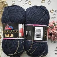 Пряжа Himalaya Pablo 123-36 темно синий