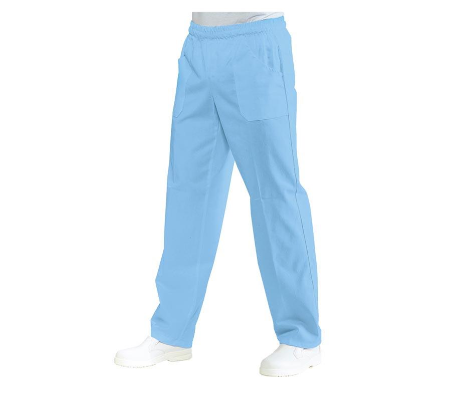 Брюки медицинские голубые на резинке с карманами Atteks - 03502
