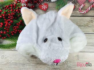 Карнавальная шапка серая Мышка на Новый Год, выступления, утренника