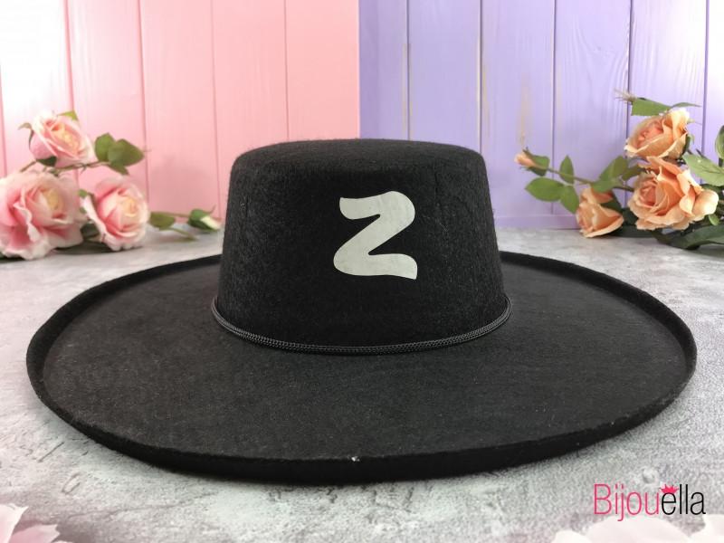 Новорічна капелюх Зоро для благородного образу іспанського розбійника, велика
