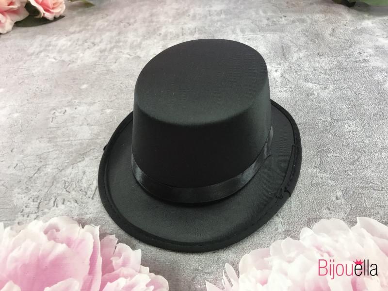 """Праздничная шляпа """"Малышка на резинке"""" черная на корпоратив, маскарад, вечеринку"""