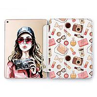 Чехол книжка, обложка для Apple iPad (Девушка-фотограф) модели Pro Air 9.7 10.5 11 12.9 mini 1 2 3 4 5 айпад про эйр 2017 2018 2019 case smart cover