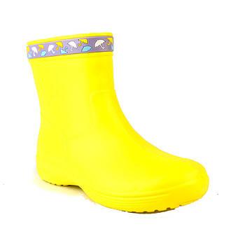Желтые сапоги на слякоть и дождь р. 41. Резиновые сапоги.