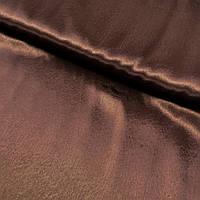 Атлас однотонный темно-коричневый, ширина 150 см