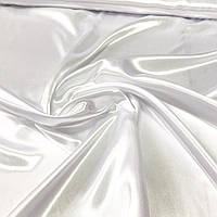 Атлас однотонний білий, ширина 150 см, фото 1