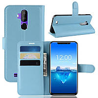 Чехол Luxury для Oukitel C12 Pro книжка голубой