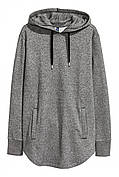 Длинное худи                         H&M                         xs                         Серое                         (0422738004)