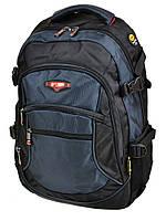 Рюкзак Power in Eavas 9617 -4 городской школьный спортивный с USB 42x32x20см Черный с синим