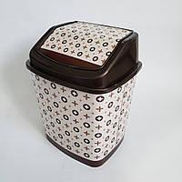 Ведро для мусора с крышкой Elif Plastik 5,5 л (Louis Vuitton)