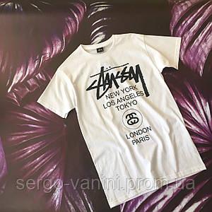 Топовая футболка Stussy white