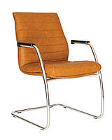 Кресло Iris steel CF LB подлокотники 1.043, Экокожа Eco-13 (Новый Стиль ТМ)