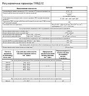 Регулировочные параметры ТНВД 32