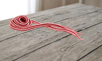 """Шнурки для обуви круглые 100см """"KIWI"""" цветные бело-красные арт.301-113"""