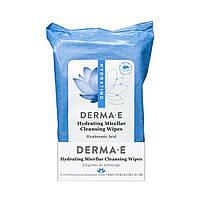 Влажные салфетки для лица с гиалуроновой кислотой Derma E