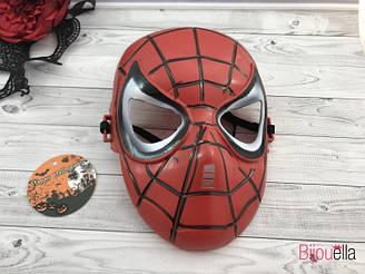 Карнавальная маска Человек-Паук красная для образа супергероя на различные мероприятия