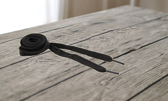 """Шнурки для обуви плоские 100см """"KIWI"""" цвет черный арт.6.8.5"""