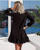 Короткое платье (цвет - черный, ткань - креп костюмка класса люкс) Размер S, M, L (розница и опт)