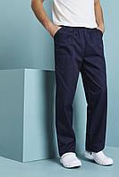 Брюки медицинские темно-синие на резинке с карманами Atteks - 03505
