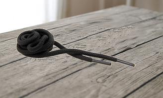 """Шнурки для обуви круглые 100см """"KIWI"""" цвет черный арт.3.4"""