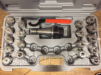 Патрон цанговый NT40 7:24 с комплектом цанг 4-20 мм
