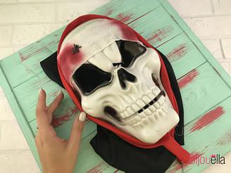 Жуткая маска Череп с пауком для страшного образа на карнавальной вечеринке, Нового Года, маскарада