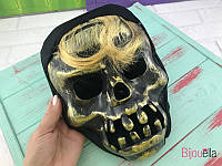 Маскарадная маска Череп с челкой, оригинальный образ на карнавал, костюмированную вечеринку