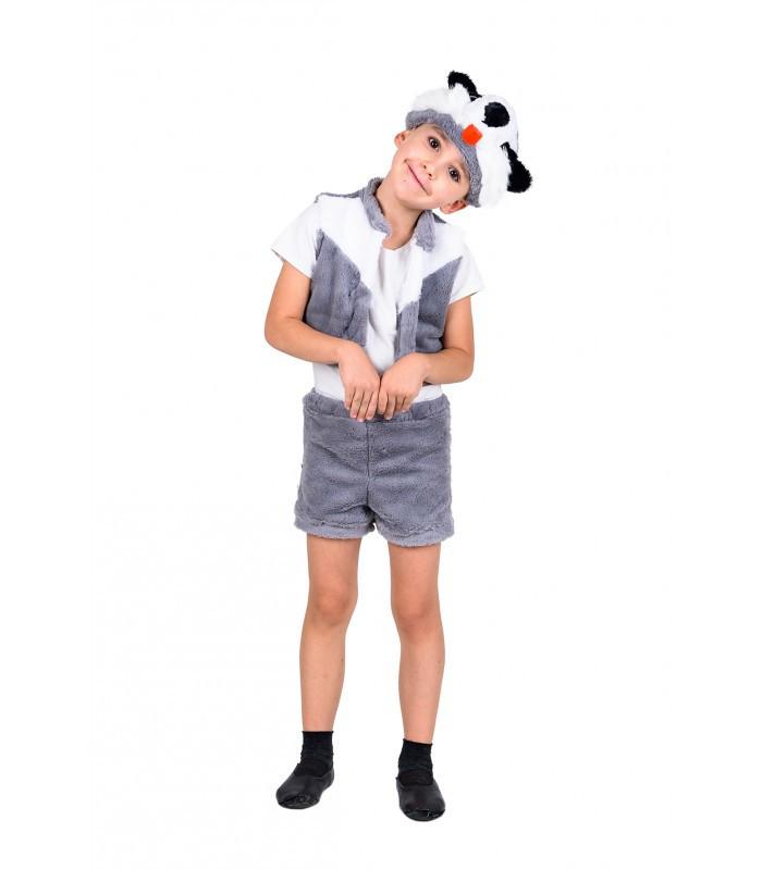 На праздник в школу, садик костюм Барсука мягкий красивый карнавальный костюм 3 в 1. рост 104-122