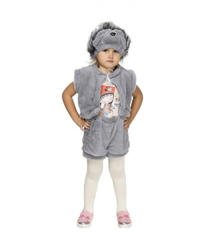 На ранок у садочок для малюка карнавальний костюм Їжака зростання 104-122 маскарадний м'який теплий
