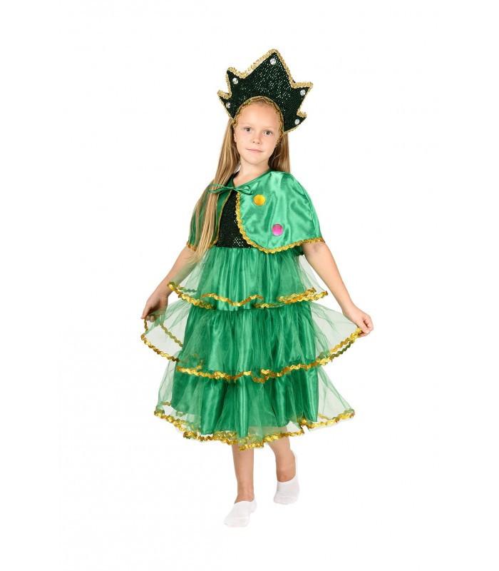 Новорічний костюм Ялинки для дівчинки віком від 4 до 10 років