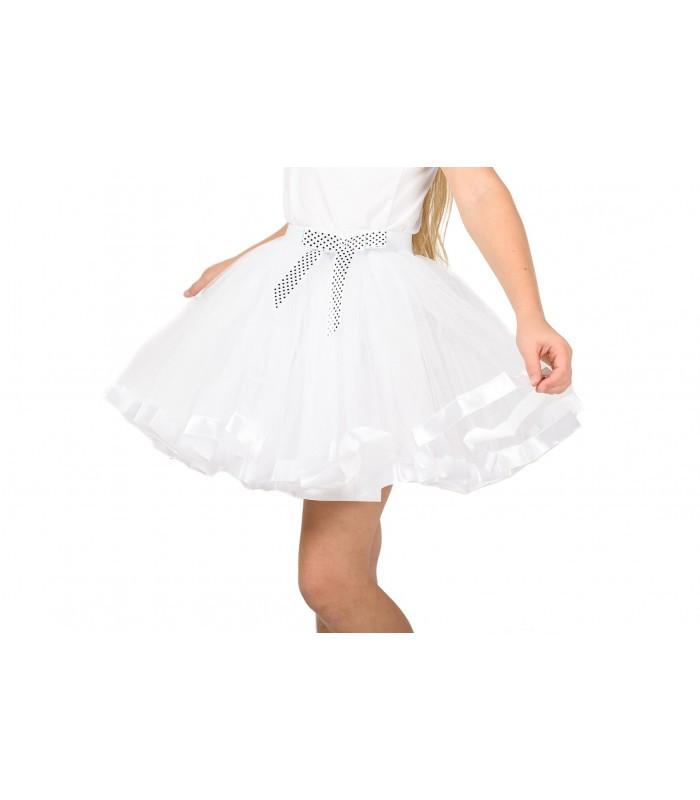 Фатиновая юбка белого цвета шикарная для маскарада в школу или садик на утренник размер универсал 5-10 лет