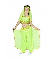 Восточная красавица Жасмин костюм карнавальный для девочки, салатовый
