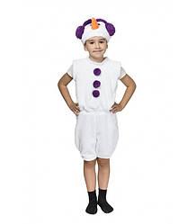 Новогодний маскарадный детский костюм Снеговика, фиолетовый