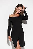 Элегантное черное женское платье, фото 1