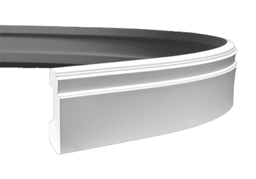 Плінтус підлоговий 1.53.101 ГНУЧКИЙ, ліпний декор з поліуретану.
