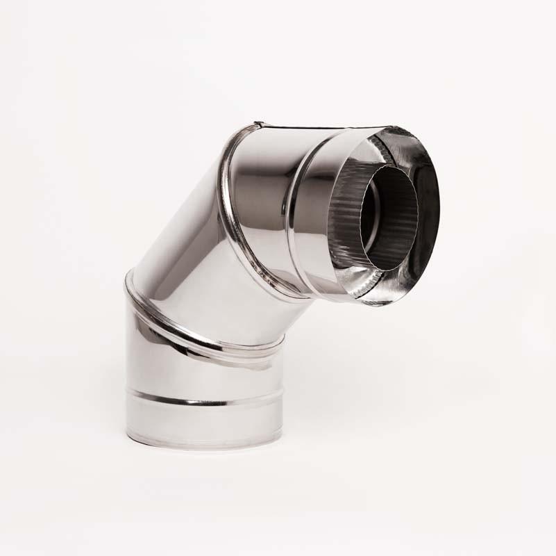 Н/Н Отвод 90° двуст. (АISI 304/430) d130/200 мм