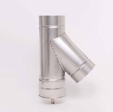 AISI 304 Тройник 45° s0,5 мм d160 мм, фото 2