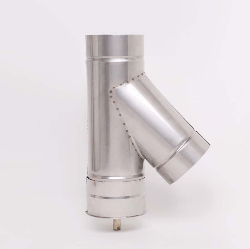 AISI 304 Тройник 45° s0,5 мм d125 мм