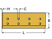 Нож ковша (режущая кромка) 2420х250х25  мм Liebherr 9283202