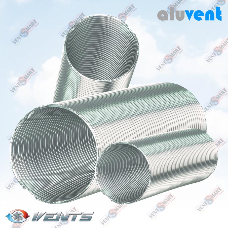 АЛЮВЕНТ М 120/1 ― внешний вид полугибких алюминиевх воздуховодов для приточно-вытяжной вентиляции