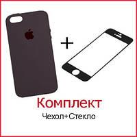 Комплект Чехол и Стекло для iPhone X/XS (47 цветов)