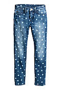 Джинсы                         H&M                         170(14y+)                         Синие                         (0508334002)